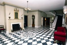 Decorative Faux Marble Finish on Floor, Gracie Mansion