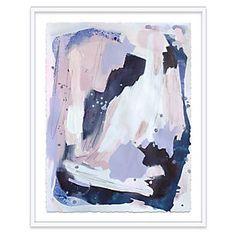 Linda Colletta, Blush & Blue - Paintings - Art - Art & Mirrors One Kings Lane Blue Artwork, Modern Artwork, Watercolor Whale, Watercolor Paper, Abstract Watercolor, Lake Painting, Painting Frames, Color Mixing, Original Paintings