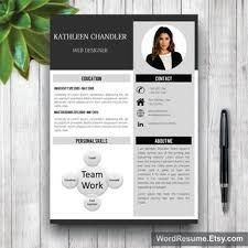 Creative Resume Templates Professional Resume Template Cover Letter For Ms Word Best  Cv