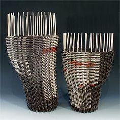 kari lonning Weaving Art, Wire Weaving, Basket Weaving, Woven Baskets, Contemporary Baskets, Textile Sculpture, Yarn Bombing, Wood Stone, Wire Art