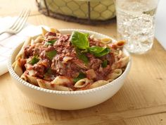 If you're craving mom's homemade sauce on your pasta, try this Slow-Cooker Sunday Gravy on top of your noodles. Even though it uses lean chuck steak, the slow-cooking process makes a melt-in-your-mouth sauce. Slow Cooker Pasta, Crock Pot Slow Cooker, Crock Pot Cooking, Slow Cooker Recipes, Italian Recipes, Crockpot Recipes, Cooking Recipes, Healthy Recipes, Healthy Meals