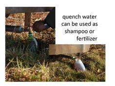 Quench water is a valuable by-product. Photo Projects, Nepal, Shampoo, Water, Outdoor Decor, Gripe Water