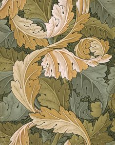 William Morris - I love how these are oak leaves?  At first glance it is floral, but there is a strange masculinity here.