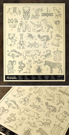 A beautifully geometric animal alphabet #design #art