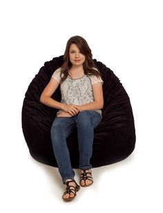 Our fur bean bag chairs are fully washable and come in a variety of colors and patterns. These soft chairs are available in small and large sizes. Fur Bean Bag, Large Bean Bag Chairs, Soft Chair, Bathroom, Black, Fashion, Washroom, Moda, Black People