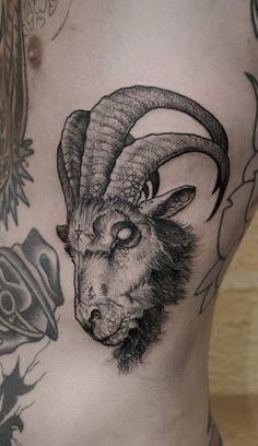 #ibex #tattoo goat