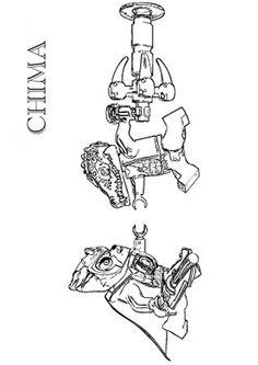 Ausmalbild Lego Chima - lego chima Lennox vs Cragger
