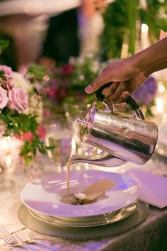 #inanyevent #olivierchengcatering Pouring soup tableside #frenchservice