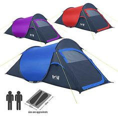2 man two #person pop up festival #c&ing tent carry case easy quick fast  sc 1 st  Pinterest & Highlander Mono Dome 2 Digital Quick Pitch Tent | 2 Man Festival ...