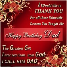 Happy Birthday SMS For Dad