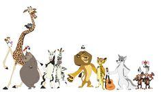 Madagascar 4 Gang by DarthGoldstar710.deviantart.com on @deviantART