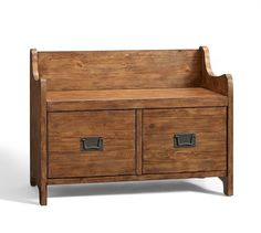 Bedroom : bench with drawers. right size, might be too rustic looking. Wade Bench