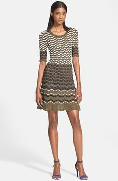 M Missoni Geo Space Dye Flared Knit Dress available at #Nordstrom