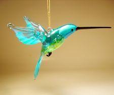 Hummingbird Collectibles for sale Glass Figurines, Aqua, Blown Glass, Christmas Ornaments, Hummingbirds, Yellow, Ebay, Easter, Wellness