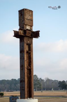 Beam from the World Trade Center in New York located in Havelock, NC