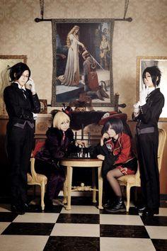 Claude, Alois, Ciel, Sebastian Cosplay - Black Butler