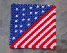 4th of july craft projects images | This is made using a simple backstitch. A closeup of the pattern is ...
