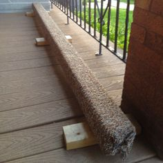 Easy to make balance beam: cover a 4 x 4 with indoor/outdoor carpeting, staple the carpet to the beam (heavy staples), and screw in a few 2 x 4s as feet. Cheap and easy balance beam for the kids!