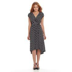 Apt. 9® Empire Faux-Wrap Dress - Women's