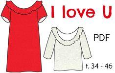"Patron Robe/Top ""I Love U"" - PDF (34-46) from Chut Charlotte !"