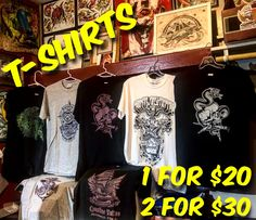 While supplies last! Creative Studio, Apparel Design, Bring It On, Tattoo, Shirts, Collection, Japanese Tattoos, Shirt, Tattoos