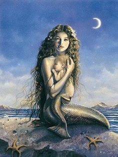 I LOVE this picture, Mermaid mommy and mermaid baby :)