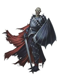 Vampire Knight Fantasy Warrior, Fantasy Rpg, Dark Fantasy, Fantasy Monster, Monster Art, Paladin, Necromancer, Character Art, Character Design
