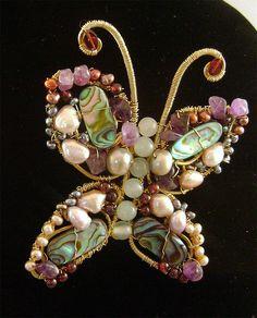 Butterfly pin Artisan Jewelry
