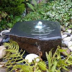 Babbling Basalt Slab Hand Carved Water Feature Kit