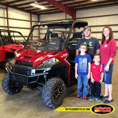 Thanks to Scott and Carmen Walley with Coen and Levi from Richton MS for getting a 2017 Polaris Ranger XP 1000. @HattiesburgCycles