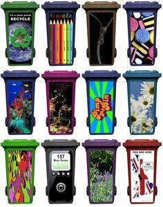 How To Paint Designs On A Black Plastic Garbage Can
