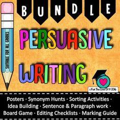 Persuasive writing Activities Bundle (12 Products + 1) and BONUS FILE!
