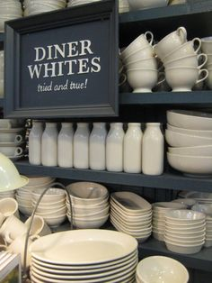 White dishes - the only ones I ever want to own (and blue and white china). make food pop off the plate!