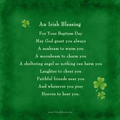 These Irish blessings for babies are beautiful no matter how you use them! You can speak these aloud at your baby's events or display them on your Irish birth announcements, a plaque on the nursery wall, or on your baby's Christening & Baptism invitations.