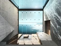 """cliff house called: Casa Brutale by Architects Laertis Antonios Ando Vassiliou and Pantelis Kampouropoulos. a """"poetic homage to pure Brutalism. Contemporary Architecture, Interior Architecture, Interior And Exterior, Building Architecture, Crazy Home, Cliff House, Living On The Edge, Concept Home, House Built"""