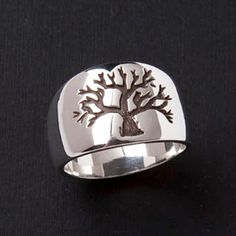 Tree of Life Ring  DeOx Sterling Silver  by BlackMountainJewelry, $95.00