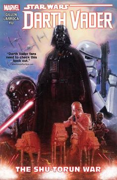 Star Wars: Darth Vader Vol. 3: The Shu-Torun War, by Kieron Gillen and Salvador Larroca (released Aug 9, 2016). The natives of Shu-Torun are revolting, and there's no way the Empire will stand for that. When Darth Vader is tasked with leading a military assault against the planet, could it be that his rise to glory has begun? But who will follow Vader into war? Would you? Then again, it's better to fight alongside Vader than against him. That's a lesson that the Ore Barons are about to…