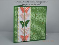 Sandra Ronald at ArteCardare, Independent Stampin Up Demonstrator shows you this Butterfly Card using Stampin' Up Products