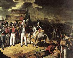Santa Anna (pointing) at the Battle of Tampico, 1829.