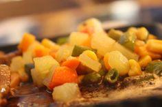 Veggies - along with San Rival Bistro's Sizzling Beef Steak...Yum Yum!