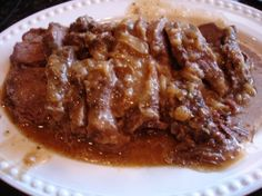 Smothered Beef Roast in Onion Gravy