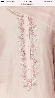 Best Totally Free Embroidery Patterns for suits Tips So you've realized almos. Best Totally Free Embroidery Patterns for suits Tips So you've realized almost all the basic of Zardozi Embroidery, Embroidery On Kurtis, Hand Embroidery Dress, Kurti Embroidery Design, Embroidery Neck Designs, Embroidery Fashion, Embroidery Patterns, Embroidery Online, Embroidery Ideas
