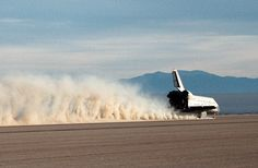 Space Shuttle Atlantis lands on Rogers dry lake bed, California