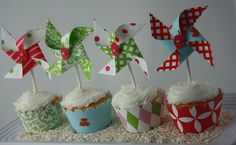 a cute twist on the cupcake toppers