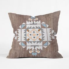 Southwest Stamp Throw Pillow Cover