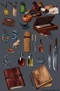 ArtStation - Dragon Age - Items, Linda Lithén