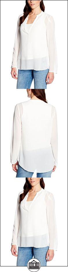 s.Oliver BLACK LABEL 11.607.11.3960, Blusa para Mujer, Elfenbein (Warm White 115), 48  ✿ Blusas y camisas ✿