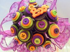 Halloween Button Bouquet Alternative Non traditional by angel9, $22.00