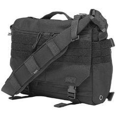 79379368f54f8 5.11 Rush Delivery Mike Padded Combat Messenger Laptop Shoulder Bag MOLLE  Black  Amazon.co