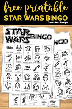Star Wars Crafts Discover Star Wars Bingo {Free Printable Party Game} - Paper Trail Design Star Wars BINGO activity free printable is perfect for a Star Wars party with 12 unique bingo boards. Easy Star Wars game for a birthday or movie watching. Star Wars Logos, Star Wars Day, Star Wars Kids, Star Wars Party Games, Star Wars Birthday Games, Birthday Activities, Diy Star, Tema Star Wars, Star Wars Classroom